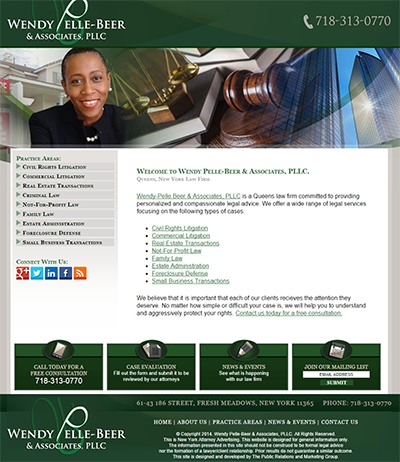 Screenshot of Wendy Pell-Beer Website