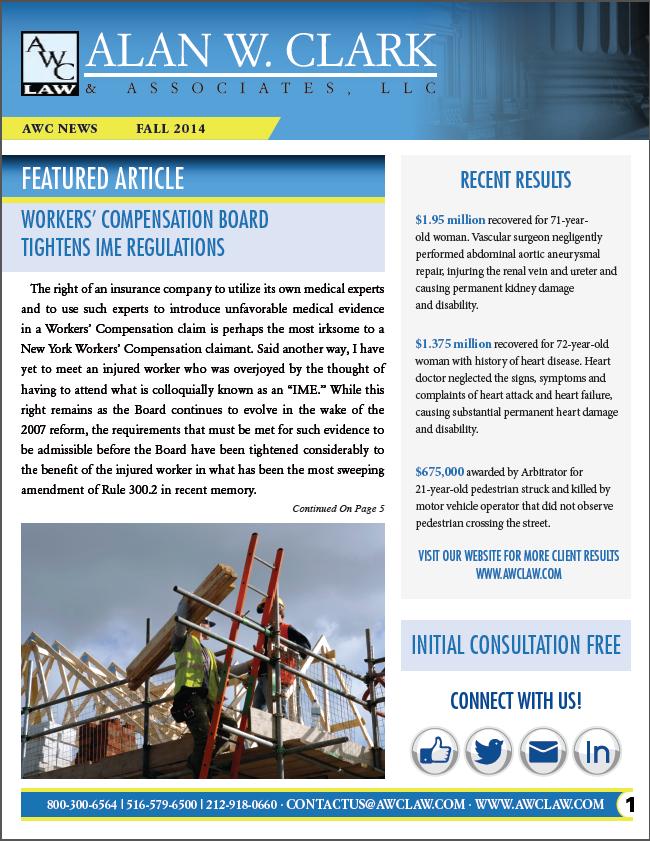 Screenshot of Alan W. Clark Newsletter