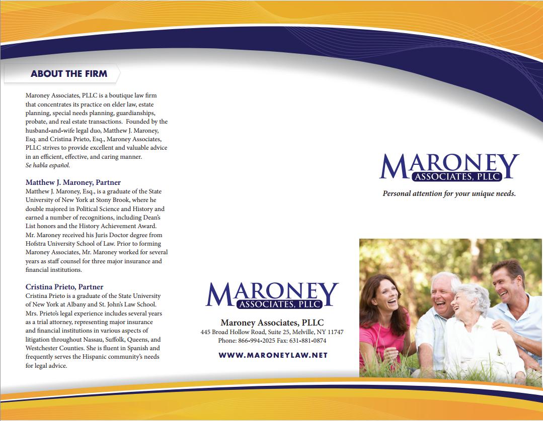 Screenshot of Maroney Associates, PLLC Brochure