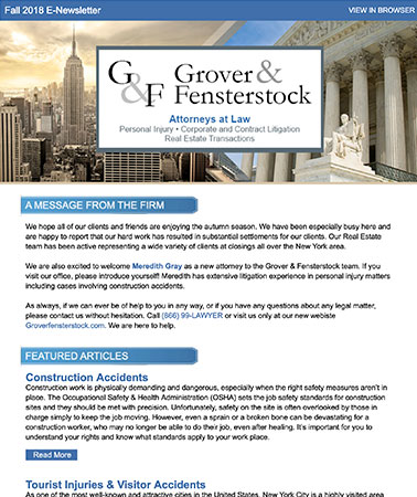 Grover Fensterstock: E-Newsletter