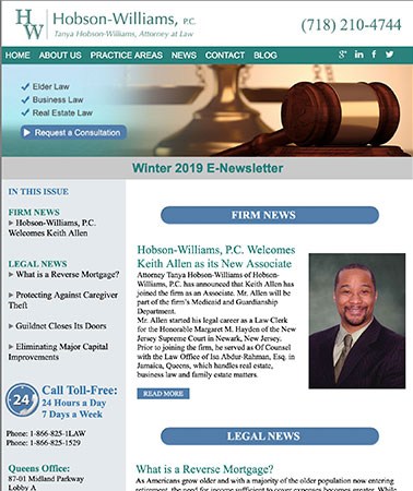 Hobson Williams: E-Newsletter