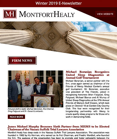 Montfort Healy: E-Newsletter