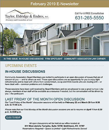 Taylor Eldridge & Endes: E-Newsletter