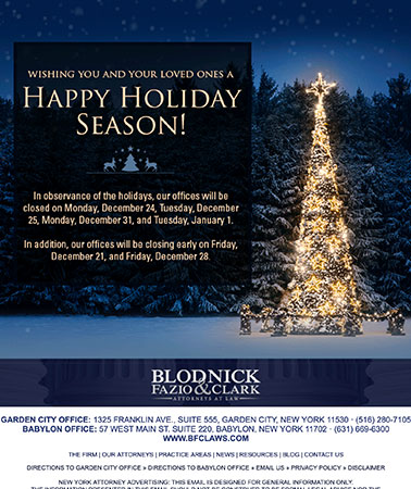 Blodnick Fazio & Clark: Holiday Email