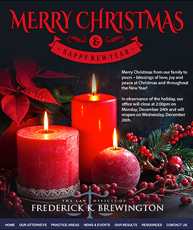 Frederick Brewington: Holiday Email