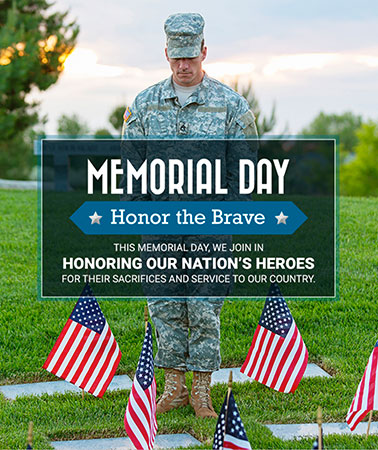 Sakkas Cahn & Weiss: Memorial Day Email