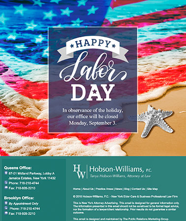 Hobson Williams: Labor Day Email