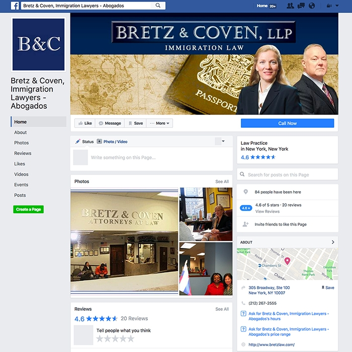 Bretz & Coven, LLP Facebook Page