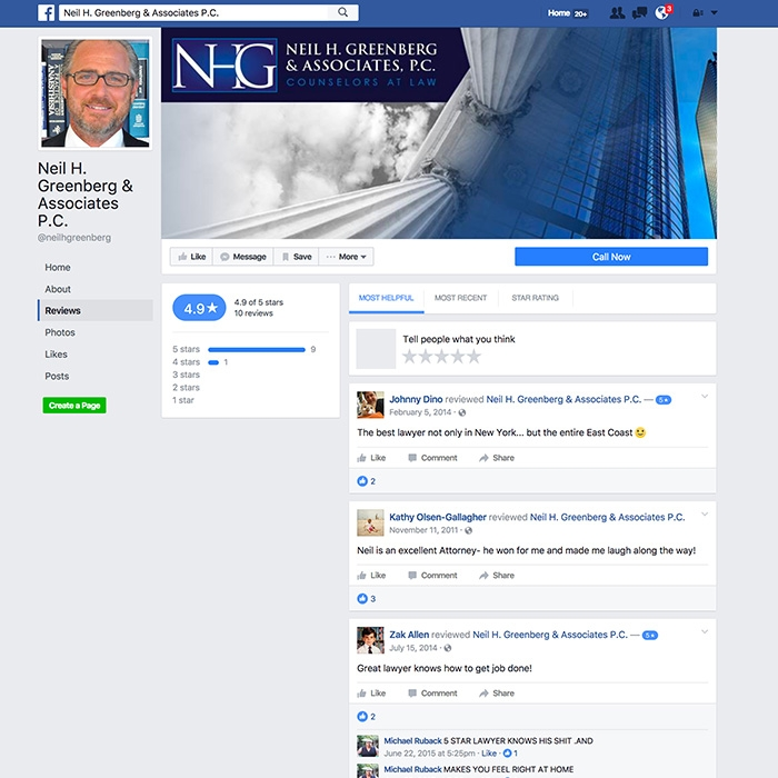Neil H. Greenberg & Associates, P.C. Facebook Page