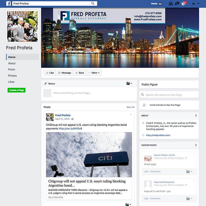 Fred Profeta Facebook Page